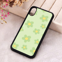 Sage Green Flowers Phone Case Hippie Floral Silicone iPhone X 11 12 Pro Cover