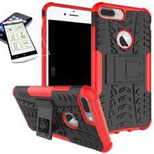 Hybrid Case Tasche Outdoor 2teilig Rot für Apple iPhone 8 7 Plus 5.5 Hülle Glas