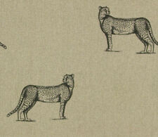 NEW Art of the Loom 'Serengeti' range 'Cheetah' 100% Linen Fabric.