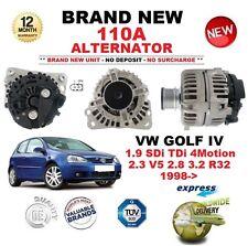 Para VW Golf IV 1.9 SDI TDI 4 Motion 2.3 V5 2.8 3.2 R32 1998 - > NUEVO 110A Alternador