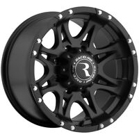 "4-16"" Inch Raceline 981 Raptor 16x8 8x165.1(8x6.5"") +0mm Matte Black Wheels Rims"