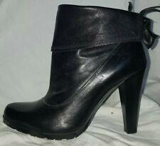 Nursace black leather high heel ankle boots 5 / 38