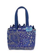 Laurel Burch Indigo Cat Medium Tote Handbag purse