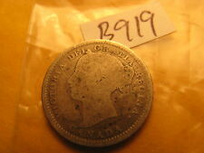 1899 Canada Dime 10 Cent Ten Cent Silver Coin ID#B 919.