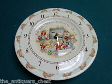 Teaching Clock Plate in Bunnykins (Albion Shape) by Royal Doulton [bnnykinds]