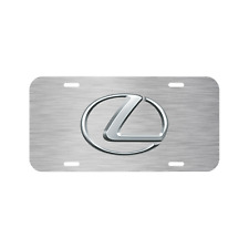 LEXUS VEHICLE LICENSE PLATE FRONT AUTO TAG USA MADE TRUCK RX IS GS LX LS BRUSHED
