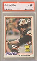 1978 TOPPS Eddie Murray PSA 6 RC ROOKIE Excellent Mint EX MT Dodgers Mets Angels