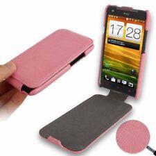 Flip Case Tasche Snake für HTC One X in rosa Schlangenlederoptik Etui Hülle