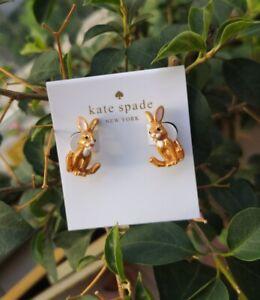Kate Spade Bunny Rabbit Ear Jacket Earrings