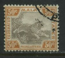 Malaya 1905 50 cents Tiger used