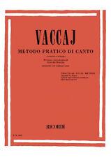 RICORDI Vaccaj - METODO PRATICO DI CANTO Soprano o Tenore (+CD)