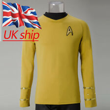 Cosplay Star Trek Captain Kirk Shirt Uniform TOS The Original Series Costume New