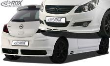 RDX Bodykit Opel Corsa D Front Spoiler Heck Ansatz Seitenschweller Dachspoiler