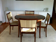 Parker Dining Set 1960s, expanding table, 6 chairs