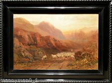 Samuel Lawson Booth 1910 signed Framed Oil Painting on canvas Highland Sheep