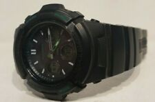 Casio G-Shock AWG-M100F Water Resistant Black & Green Watch!