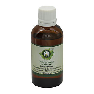 Pure Almond Oil Prunus Dulcis Cold Pressed Uncut Natural For Skin Hair Massage