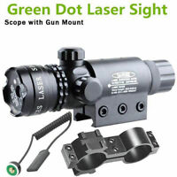 Green dot Laser Sight Scope Tactical Pressure Switch Rail Mount Light Rifle B