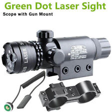 Verde laser vista punto Alcance Caza Rifle Tactical Rail Mount Pressure Switch