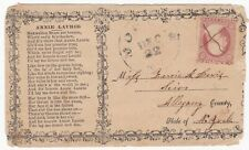 # c.1860s? USA ADVERTISING COVER ANNIE LAURIE SONG VERSES MOSCOW? 3c TO NEW YORK