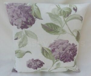 "Laura Ashley Designer Cushion Cover ""HYDRANGEA"" Grape Fabric Various Sizes"