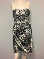 ValleyGirl silver grey black animal print dress size Women cocktail party weding