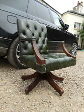 super Vintage english leather captains gainsborough chesterfield desk chair