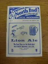 26/03/1966 Preston North End v Manchester United  (Felt Pen Mark On Cover, Light