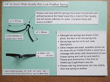 """Mortice/ Rim Door lock handle feather spring 1/4"""" (6.3mm) wishbone (other Sizes)"""