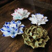Keramik Lotus Catcher Räucherstäbchen Halter Platte Natürliche 1/3 Löche /h