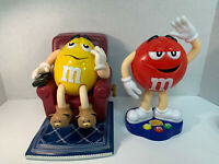 M&M's MM Candy Dispenser Yellow - Recliner TV Chair Remote Slippers & Red Waving