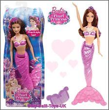 Barbie Mermaid Doll The Pearl Princess Rare 2014 Purple Brunette Version NEW