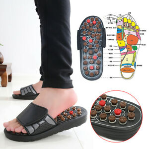 Massage Sandal Slippers Feet Reflexology Acupressure Acupuncture Health Shoes UK