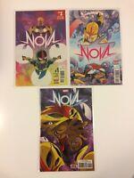 Lot of 3 Nova Vol 7 #1 2 5 Marvel Comics (2017)