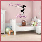 Wall Stickers custom Girl Name Gymnast Gymnastics Dance decal decor Nursery