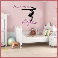 Wall Stickers Custom Girl Name Gymnast Gymnastics Dance Decal Decor Nursery Part 88