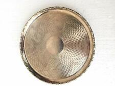 """CUNARD WHITE STAR LINE RMS """"MAURETANIA"""" FOOTED SILVER PLATED SALVER"""