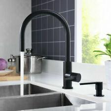 ART PLATINO Küchenarmatur PORI INOX Edelstahl Schwarz Matt Wasserhahn Küche