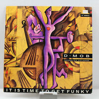 D Mob It's Time To Get Funky SINGLE Vintage Vinyl Record LP VG+ 886 627-1
