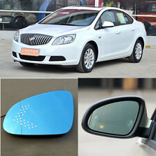 Rearview Mirror Blue Glasses LED Turn Signal Power Heating For Buick Excelle