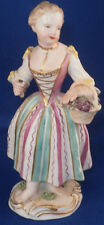 Rare 18thC Meissen Porcelain Lady w/Flowerbasket Figurine Figure Porzellan Figur