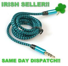 3.5mm Stereo Car Auxiliary Audio Cable Male To Male for Smart Phone 1 metre