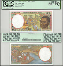 Central African States (Chad) 1,000 (1000) Francs, 2000, P-602Pg,UNC,PCGS 66 PPQ