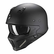 SCORPION CASQUE JET TRANSFORMABLE COVERT-X SOLID MOTO SCOOTER FIBRE