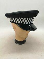 More details for ex police peak cap black wool felt collector uniform patrol costume theatre film