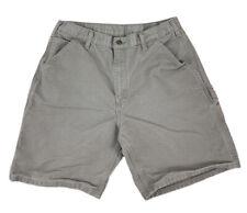 Men's Carhartt Washed Duck Cotton Shorts Sz 34