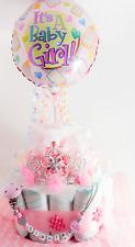 Windeltorte + Schnullerkette mit Namen ♥ PRINZESSIN ♥ Babygeschenk Mädchen rosa