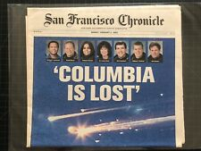San Francisco Chronicle COLUMBIA IS LOST Space Shuttle Tragedy 2-2-2003 NASA VGC