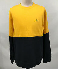 Obey Men's Crew Sweatshirt The Hangout Yellow/Navy Size XL NEW Shepard Fairey