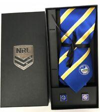 NRL Parramatta Eels Tie & Cufflinks Gift set FREE SHIPPING Father's Gift